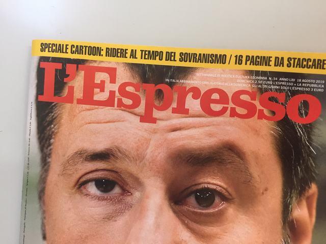 Copertina Espresso 18 agosto 2019