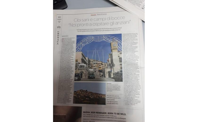 Newspaper Article - La Repubblica 25 August 2018