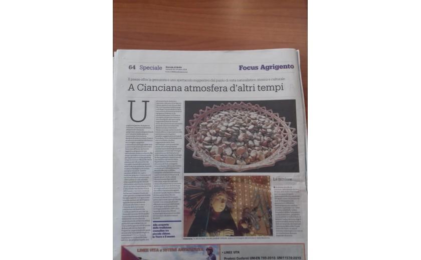 GIORNALE DI SICILIA - NEWSPAPER ARTCILE - 26 OCTOBER 2018